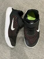 Nike Free RN 2018 Black/White-Racer Pink-Volt AH3455-001 Girls Athletic Shoe 2Y