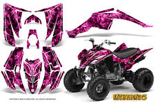 YAMAHA RAPTOR 350 GRAPHICS KIT CREATORX DECALS STICKERS INFERNO PINK