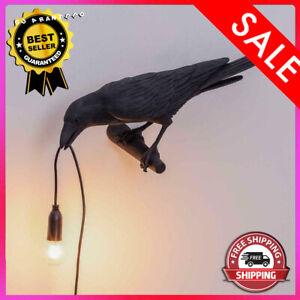 Seletti Style Raven Lamp Wall Light Black White Novelty Bulbs Included!