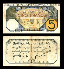 Afrique Occidentale 5 Francs Dakar Sénégal 1 Septembre 1932