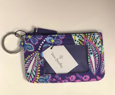 New With Tags Vera Bradley Zip ID Case /  Coin Purse Keychain - Choose color