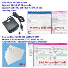 LTE WCDMA ICCID SIM USIM 4G secure card reader writer programmer with 5pcs blank
