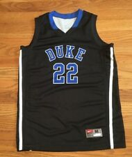 New Nike Boy's M Duke Blue Devils Team ID II Game Jersey #22 Black MSRP $45