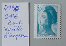 France variété 2190 2195 neuf luxe ** variétée d'impression