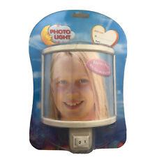 "Magic Light Personalized Photo Night Light Wall Plug In Ivory 4 x 6"" Picture NIB"