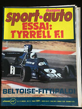 Magazine Sport Auto No 155 Decembre 1974 Elf 2 BMW F.2 Alpine A441 Tyrell 007 F1