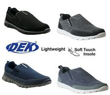 MENS SUPERLIGHT MEMORY FOAM SLIP ON GO WALK SUMMER MESH PUMP TRAINERS SHOES SIZE
