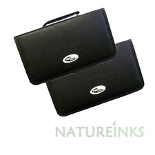 2 x Neo 120 Synthetic Leather CD DVD discs storage carry wallet strong zip