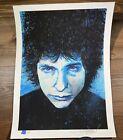 """Joey Feldman """"Bob Dylan"""" Portrait Art Print Giclee Poster Signed XX/100 Embossed"""