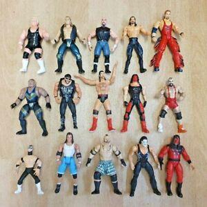 Bundle of 15 x WWE WWF WCW WRESTLING FIGURES - Jakks - Titan (Lot 3)