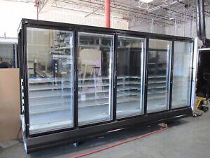 5 Door Hussmann RL Freezer/cooler Remote Glass Door Reach In Elect Def..
