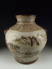 Chinese Antique Jizhou Ware Porcelain Vase with landscape scene