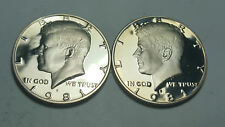 1981-S PROOF DEEP CAMEO KENNEDY HALF DOLLAR TYPE 1 CLEAR 'S' 2 Coin Sets