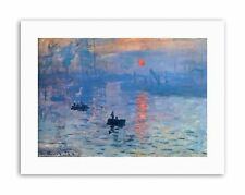 CLAUDE MONET IMPRESSION SUNRISE Picture Painting Old Master Canvas art Prints