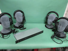 TOM COM 4 STATION SYSTEM with 4 cans 4 belt packs & PS 11 CLEAR COM 4 PIN type