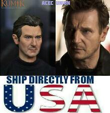 U.S. SELLER - 1/6 KUMIK Liam Neeson Taken Bryan Mills Head Sculpt For Hot Toys