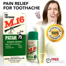 TOOTHACHE First Aid Tooth Kit Oral Anesthetic Pain Relief Herbal Clove Oil 3ml