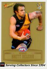 2012 SELECT AFL CHAMPIONS PEELED GOLD PARALLEL CARD GC159 BRETT DELEDIO-RICHMOND
