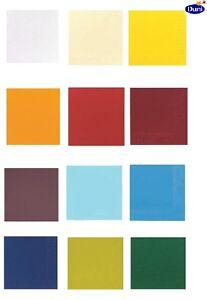 DUNI Zelltuch Servietten verschiedene Uni Farben 24x24 33x33 40x40 cm 3-lagig