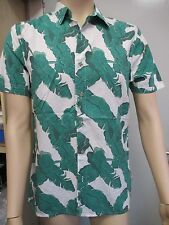 Mens Palm Leaf Print TOPMAN Shirt - Short Sleeve - SMALL -  RRP £28  Classic Fit