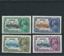 More details for malta 1935 silver jubilee set of four mnh sg 210/213 cat £24