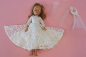 "IDEAL LITTLE MISS REVLON 10.5"" VINTAGE 1950s Doll Vogue Wedding Gown Tag"