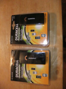 LOT OF 2 Duracell Instant USB Charger W/ Universal Cable with mini USB NEW SEAL