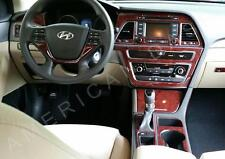 2015 2016 2017 INTERIOR WOOD DASH TRIM KIT SET FOR HYUNDAI SONATA GLS SE HYBRID