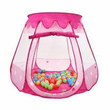 Pop Up Bällebad mit 100 Bällen Spielhaus Kinderzelt Spielzelt Babypool Pink