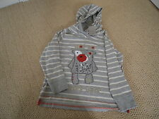New With Tags Grey Stripe Long Sleeved  Top by Next Size 4-5 Yrs Height 110cm)