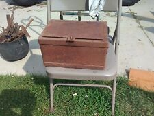 Antique 1800's Stagecoach Railway Strong Box Cast Iron Patented Wells Fargo?