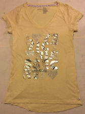 Womens L Large Yellow Victoria's Secret Supermodel Essentials Gown Sleep Shirt