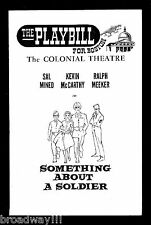 "Sal Mineo ""SOMETHING ABOUT A SOLDIER"" Ralph Meeker 1961 FLOP Tryout Playbill"