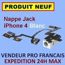 ✖ NAPPE PRISE JACK ET BOUTON VOLUME VIBREUR POUR IPHONE 4 BLANC ✖ NEUF ENVOI 24H