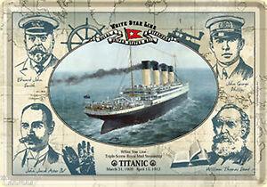 Nostalgic Art Titanic White Star Line Avec Équipe Crew Membres