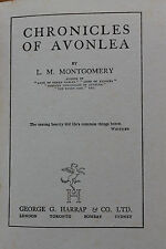 CHRONICLES OF AVONLEA by L.M. MONTGOMERY 1937 ed