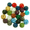 20pcs Quality Crystal Rhinestone Pave Clay Round Disco Ball Loose Lots Beads