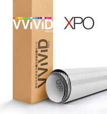 White carbon fiber 30ft x 5ft car vinyl wrap  VViViD XPO 3d cast sheet roll film