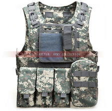 Military Airsoft Adjustable MOLLE Vest Combat Tactical Chest Rig