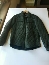 Vince Men's Quilted Bomber Jacket Olive Medium