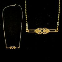 Vintage 1930s French Made Art Deco Die Struck Necklace Detailed!