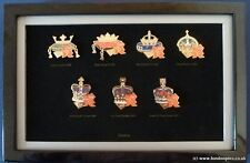 LONDON 2012 OLYMPIC GAMES  ROYALTY CROWNS OF ENGLAND SET OF 7 PIN BADGES