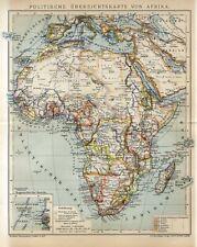 1901 AFRICA MADAGASCAR ARABIA POLITICAL MAP Antique Map dated