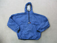 Ralph Lauren RLX Jacket Adult Large Blue Pullover Hooded Outdoors Coat Mens *