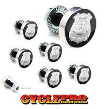 7 Pcs Billet Fairing Windshield Bolt Kit For Harley - POLICE BADGE - 020