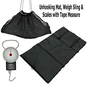 Carp & Commercial Fishery Unhooking Mat , Scales with Tape Measure & Weigh Sling