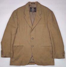 STRUCTURE Linen BLAZER Mens LARGE Beige 2 BUTTON Lined SIZE Jacket SZ Tan ITALY*