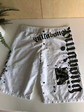 Billabong Unisex Size 14  White & Black Signature Board Surfer Swim Shorts  A50