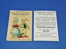 CHROMO CHOCOLATERIE FRANCO-BELGE HALLUIN NORD COSTUMES FRANCE NORMANDIE AUGE