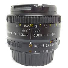 Nikon AF NIKKOR 50mm 1:1.8D Lens Black Comes w Both Caps Clean